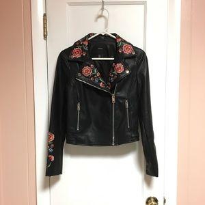 EUC Black Faux Leather Jacket